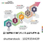 infographics business template... | Shutterstock .eps vector #1029354439