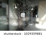 microchip  cpu  processor ... | Shutterstock . vector #1029359881