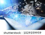 cloud technology  computing ... | Shutterstock . vector #1029359959