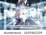 global outsourcing and... | Shutterstock . vector #1029362239