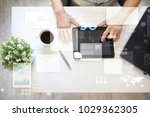 virtual touch screen. project... | Shutterstock . vector #1029362305