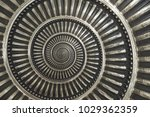 gray metal abstract spiral... | Shutterstock . vector #1029362359