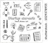 startup elements hand drawn... | Shutterstock .eps vector #1029378955