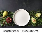 Green Salad And Fruits Mix For...