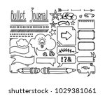 bullet journal and diary... | Shutterstock .eps vector #1029381061