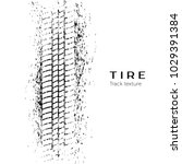 tire track impression. print of ... | Shutterstock .eps vector #1029391384