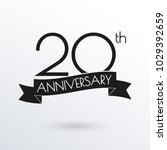 20 years anniversary logo with... | Shutterstock . vector #1029392659