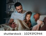 portrait of father looking at... | Shutterstock . vector #1029392944