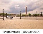 place de la concorde with... | Shutterstock . vector #1029398014