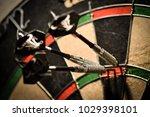Stock photo dartboard score 1029398101
