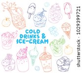 a vector hand drawn collection... | Shutterstock .eps vector #1029399721