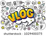 concept of blogging. pink blog... | Shutterstock .eps vector #1029400375