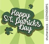 st. patricks day holiday... | Shutterstock .eps vector #1029400891