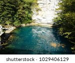 blue lake in abkhazia  which is ...   Shutterstock . vector #1029406129