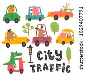 vector set  hand lettering city ...   Shutterstock .eps vector #1029407791