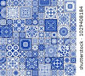 seamless patchwork tile with... | Shutterstock .eps vector #1029408184