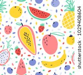 vector tropical fruit... | Shutterstock .eps vector #1029408604