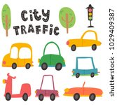 vector set of cars icons ... | Shutterstock .eps vector #1029409387