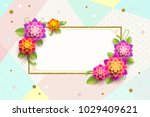 greeting card with ornamental... | Shutterstock .eps vector #1029409621