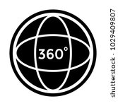 angle 360 degree icon. vector... | Shutterstock .eps vector #1029409807