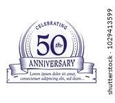 50th anniversary design... | Shutterstock .eps vector #1029413599