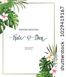 wedding card. invitation... | Shutterstock .eps vector #1029419167