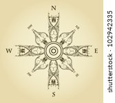 vintage compass | Shutterstock .eps vector #102942335