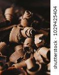 delicious dark chocolate on a... | Shutterstock . vector #1029425404