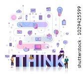 "flat design typography concept ""... | Shutterstock .eps vector #1029425599"
