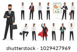 set of happy businessman... | Shutterstock . vector #1029427969