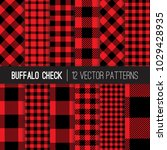 classic lumberjack red and... | Shutterstock .eps vector #1029428935