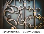 ornate wrought iron elements of ... | Shutterstock . vector #1029429001