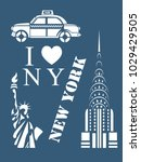 new york stencil | Shutterstock .eps vector #1029429505