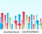 financial arrow graph. vector... | Shutterstock .eps vector #1029429844