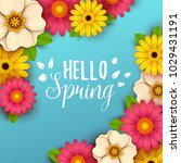 colorful spring background with ... | Shutterstock .eps vector #1029431191