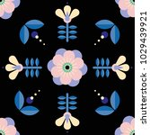 beautiful floral pattern in... | Shutterstock .eps vector #1029439921