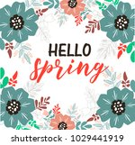 spring greeting card with a... | Shutterstock .eps vector #1029441919