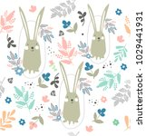 vector seamless pattern with a... | Shutterstock .eps vector #1029441931