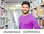 happy indian student at the... | Shutterstock . vector #1029443311