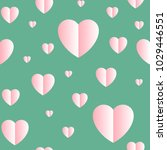 cute pattern with hearts.... | Shutterstock .eps vector #1029446551