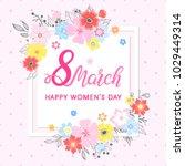 women s day typography   hand... | Shutterstock .eps vector #1029449314