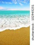 Sea Shore At Summer Sunny Day...