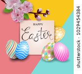 easter greeting card. vector... | Shutterstock .eps vector #1029454384