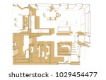 house plan architectural... | Shutterstock . vector #1029454477