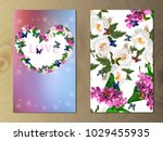 valentines day heart with... | Shutterstock .eps vector #1029455935