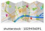 map city gps | Shutterstock .eps vector #1029456091