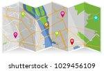 map city gps | Shutterstock .eps vector #1029456109