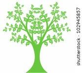 beautiful art tree isolated on... | Shutterstock .eps vector #102945857