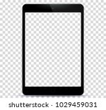black tablet pc with... | Shutterstock .eps vector #1029459031