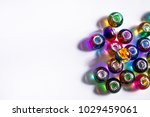 colorful glass beads isolated | Shutterstock . vector #1029459061